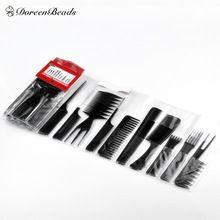 1 Unidades (Contain10 piezas) Negro Peines Profesional Peluquería Styling Barberos Set 15 cm-23 cm, envío gratis 2015 Nuevo Estilo(China (Mainland))