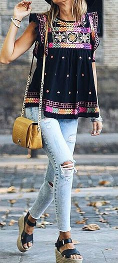 gypsy style addiction: top + rips + bag