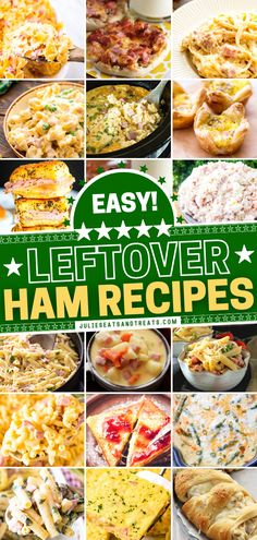 In search of ideas on what to make with leftover ham from Easter dinner? These easy recipes have got you covered! There is something for everyone on this list, from casseroles to soup, breakfast, and more. Find your new favorite from so many of these different combos! Recipes Using Ham, Leftover Ham Recipes, Leftovers Recipes, Recipe Using, Dinner Recipes, Yummy Recipes, Ham Casserole, Easy Casserole Recipes, Best Casseroles