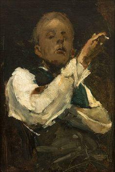 Zelfportret, George Hendrik Breitner, 1882 | Museum Boijmans Van Beuningen