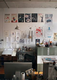 studio of Christopher Neal. i would love the drawers. Itd be sooo much easier to store my art