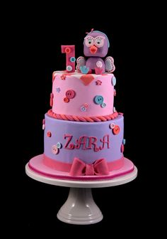 Hootabelle Cake First Birthday Cakes, Girl Birthday, Birthday Parties, Birthday Stuff, Birthday Ideas, Owl Cakes, Amazing Cakes, First Birthdays, Cake Decorating