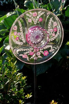Painted Glass Flower
