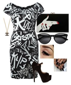 """Untitled #29"" by so-fahking-dahm on Polyvore featuring Charlotte Olympia and Moschino"