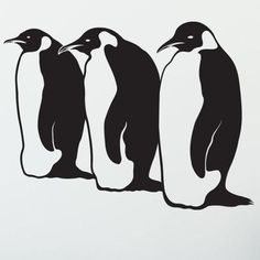 "Style and Apply Penguin Wall Decal Size: 24"" H x 31"" W, Color: Violet"