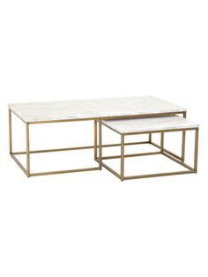 Marble Nesting Tables for the Living Room sarah m dorsey designs