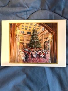 12 marshall fields christmas cards of the great tree iin - Marshalls Hours Christmas Eve