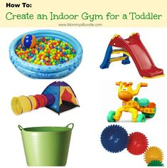 How to Create An Indoor Gym for a Toddler--> See how: http://mommysbundle.com/how-to-create-an-indoor-gym-for-a-toddler/ #indoorgym #indooractivities