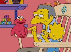 No seas malo con elmo Simpsons Funny, Simpsons Art, Funny Art, Funny Memes, Hilarious, Nerd Funny, Funny Comebacks, Simpsons Drawings, Simpsons Characters