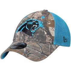 6d7462723 Men s Carolina Panthers New Era Realtree Camo Blue Trucker 9FORTY Adjustable  Snapback Hat