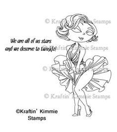 Kraftin' Kimmie Stamps - Marilyn