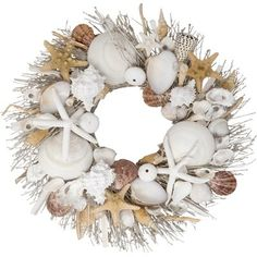 Evoke a feeling of coastal living with this full Preserved Seashell Wreath adorned with stylishly curated botanicals and natural driftwood. The wreath comes packaged in a wood wreath crate for protection, which makes it very giftable as well. Driftwood Wreath, Seashell Wreath, Seashell Art, Seashell Crafts, Beach Crafts, Driftwood Ideas, Driftwood Art, Driftwood Seahorse, Driftwood Furniture