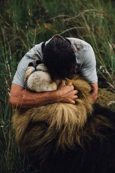 Kevin Richardson and his Lion  Photo by Matthew Moore McMahon — National Geographic