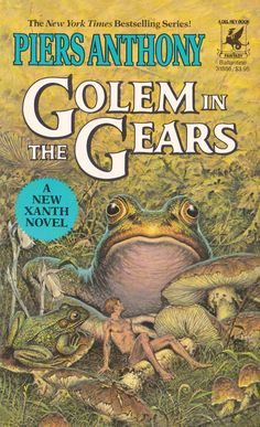 Piers Anthony. Golem In The Gears Cover Art. Darrell K. Sweet