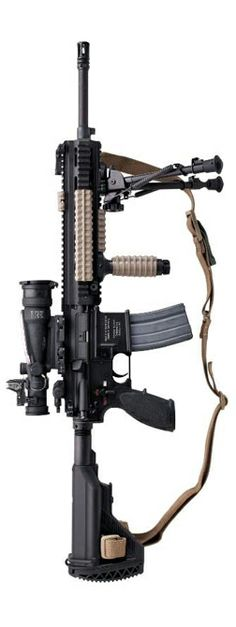 USMC's M27 IAR (Infantry Automatic Rifle) There is nothing more devastating than a Marine and his rifle