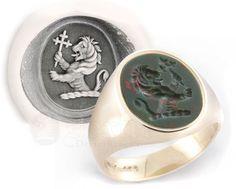 Lion Crest Engraved onto a Bloodstone