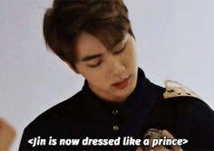 He honestly looks like a damn prince