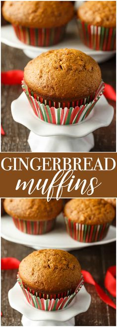 Gingerbread Muffins - These festive muffins make a wonderful addition to your morning coffee. They aren't overly sweet and are packed full of yummy gingerbread flavour.