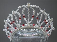 Red and White Diva Headband