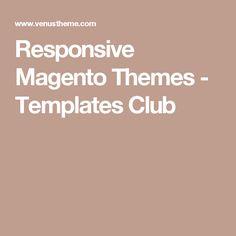 Responsive Magento Themes - Templates Club