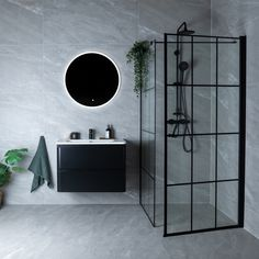 Celeste nero dusjdør - høyre m/ sikkerhetsfolie, sort - MegaFlis. Diy Bathroom, Bathroom Grey, Laundry In Bathroom, Modern Bathroom Design, Bathroom Interior Design, Interior Design Living Room, Small Bathroom, Master Bathroom, Bad Inspiration