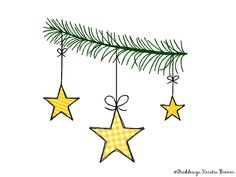 Tannenzweig Sterne Doodle Stickdatei. Christmas stars.. Christmas bauble appliqué embroidery file for embroidery machines.   #sticken #weihnachten #diy