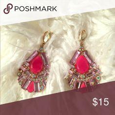 Ann Taylor Pink Drop Earrings ✨💄 Chic Pink Drop Earrings ✨💄 Ann Taylor Jewelry Earrings