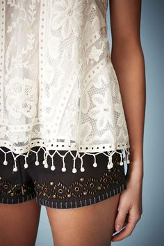**Swing Crochet Cami Top by Kate Moss for Topshop - Topshop