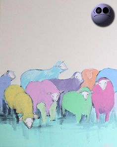 I have been obsessed with the painted sheep of Scotland for years. Different farmers dye their sheep multicolors and the result is a #rainbow of sheep! This piec...