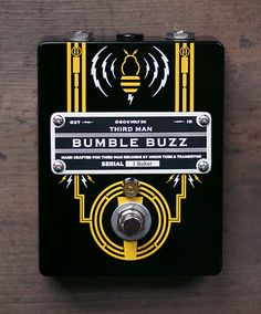 'Bumble Buzz' custom guitar pedal design by Julian Baker for Third Man Records and Union Tube and Transistor. #custom #guitar #pedal #design #graphics #product