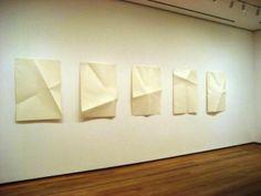 Dorothea Rockburne. Locus I-V, 1972. Aquatint and folded paper.