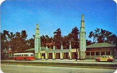 1950 postcard of old art deco ceramic tile entrance to the Memphis Fairgrounds State Of Tennessee, Memphis Tennessee, Vintage Pictures, Old Pictures, Bluff City, County Seat, My Kind Of Town, Blues Rock, Graceland