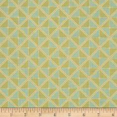 Joel Dewberry Notting Hill Frames Fern - Discount Designer Fabric - Fabric.com