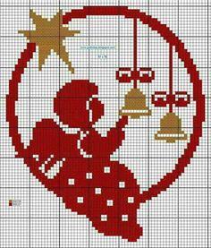 Angel and bells cross-stitch