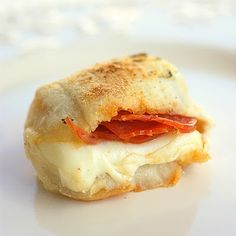 Pizza Rolls - cut pizza dough into squares, stuff, and dip roll into garlic/herb butter (serve with marinara sauce) YUM!