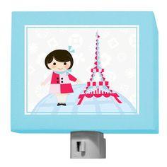 "Oopsy daisy, Fine Art for Kids presents Disney® ""It's a Small World - French Girl"" Nightlight $25"