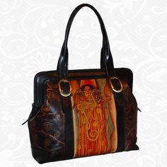 Kabelky Kožené výrobky - Page 4 of 5 - Kožená galantéria a originálne ručne maľované kožené výrobky Gustav Klimt, Painting Leather, Hand Painted, Handmade, Bags, Self, Handbags, Hand Made, Bag