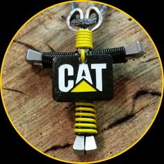 Necklace  Black and Yellow with a CAT charm. #trucking