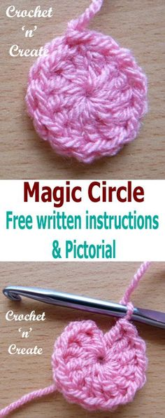 Crochet Magic Circle Pictorial from Crochet 'n' Create