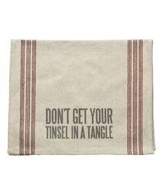 Another great find on #zulily! 'Tinsel Tangle' Linen Tea Towel #zulilyfinds