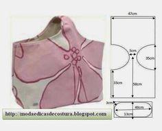 Moda e Dicas de Costura: MOLDE DE SACO FÁCIL DE CORTAR - 2