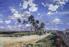 Giovanni Boldini (Italian, 1842-1931) - La Grand Rue à Combes-la-Ville - 1873 - olio su tela - Philadelphia, Museum of Art