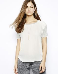 Influence Jersey Mix Oversize T-Shirt