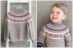 Nancy-genser til Oscar Crochet Top, Crochet Hats, Boys Sweaters, Sweater Outfits, Pullover, Barn, Knitting, Clothes, Color