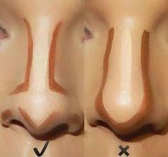 Nose Makeup, Makeup Contouring, Skin Makeup, Contouring Tutorial, Highlighting Contouring, Eyeliner Tutorial, Mac Makeup, Makeup Brushes, Makeup Remover