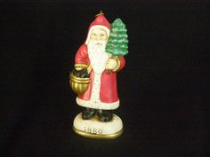 Vintage Santa with tree Ornament 1984 Christmas Eve by parkie2, $9.75