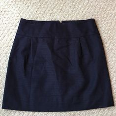 Navy J. Crew skirt Navy J. Crew skirt. Needs ironing but otherwise in flawless condition. Lined. Perfect for work! Approx. 15.25 in. long. J. Crew Skirts Mini