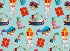 Illustraties in opdracht van HEMA voor de sinterklaas en kerst collectie. Gemaakt van gekleurd papier door illustrator Lonneke Leever uit Arnhem.