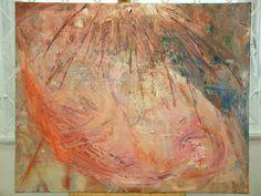 Abstrakcja - Narodziny Gwiazdy - olej na płótnie