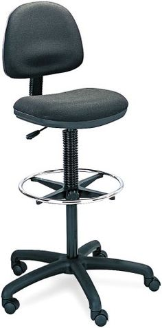 Safco Products 3401BL Precision Extended Height Chair with Footring Additional options sold separately Black ** Be sure to check out this awesome product.Note:It is affiliate link to Amazon.